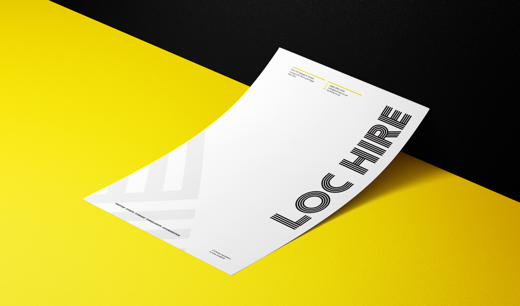 LOC Hire Letterhead Mock Up