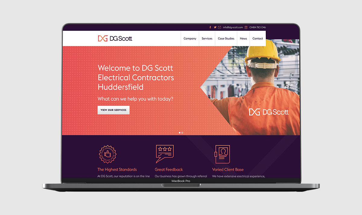 DG Scott Electrical Contractors Rebrand