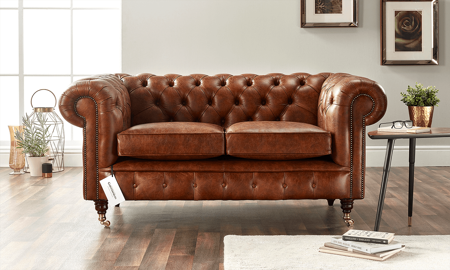 Distinctive Chesterfields Walnut Leather